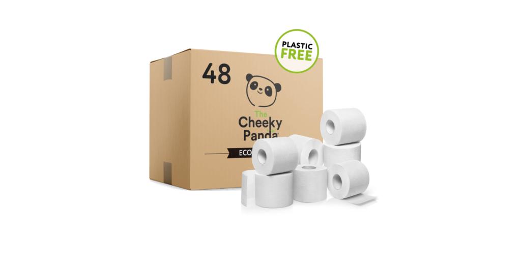 48 db-os bambusz WC papír - Cheeky Panda