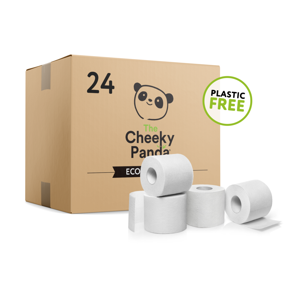 24 db-os bambusz WC papír - Cheeky Panda