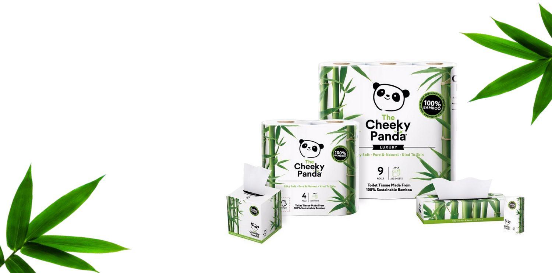 Cheeky Panda lebomló háztartási papíráru